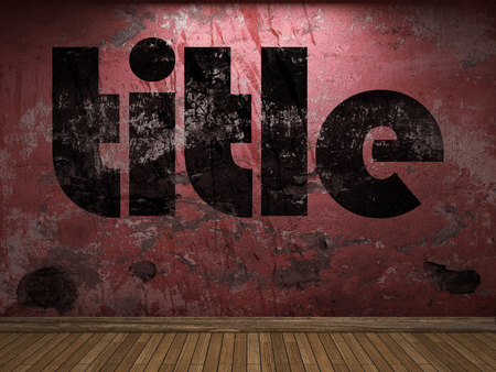 title: title word on red wall