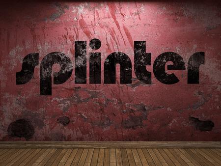 splinter: splinter word on red wall