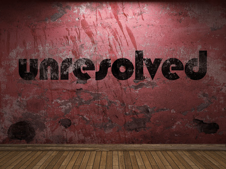 unresolved: unresolved word on red wall