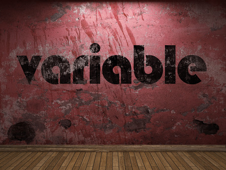 variable: variable word on red wall