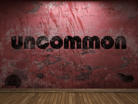 uncommon: uncommon word on red wall