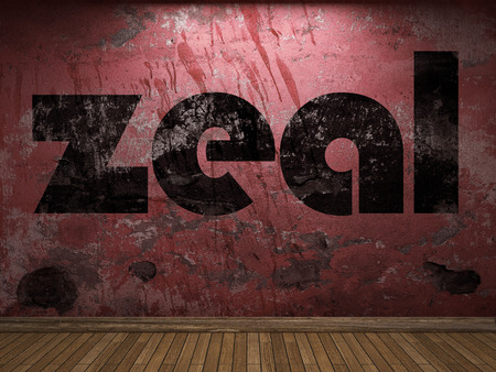 zeal: zeal word on red wall