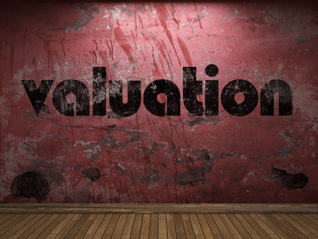 valuation: valuation word on red wall