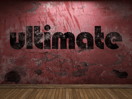ultimate: ultimate word on red wall