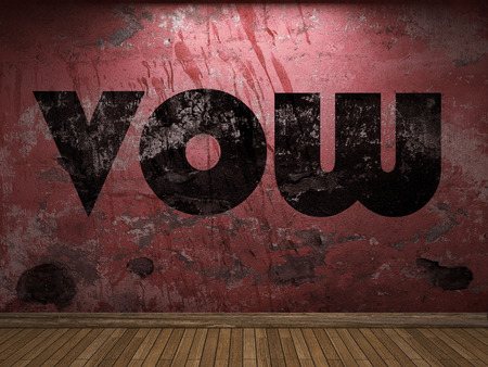 vow: vow word on red wall Stock Photo