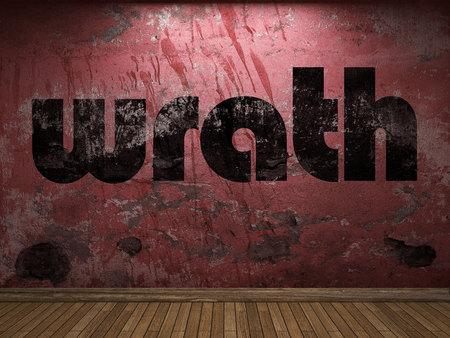 wrath: wrath word on red wall