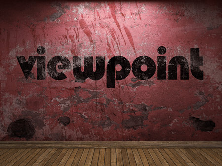 viewpoint: viewpoint word on red wall