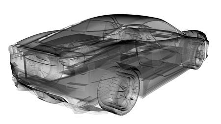 axle: transparent sport car Stock Photo