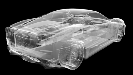 transparent sport car Stock Photo