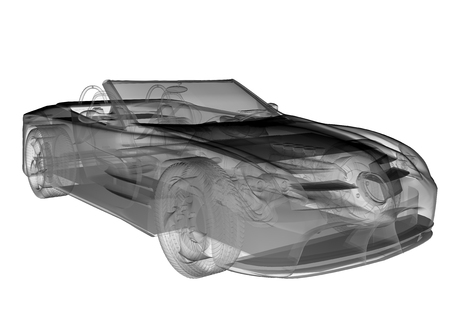 car isolated: transparent sport car isolated Stock Photo