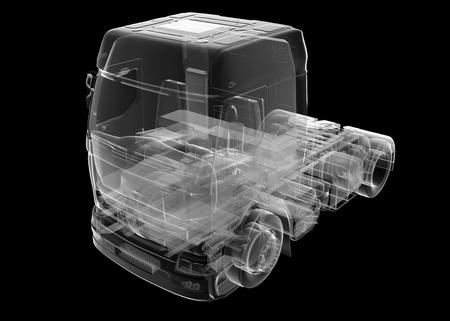 Aislado del carro del camión transparente Foto de archivo - 62446775