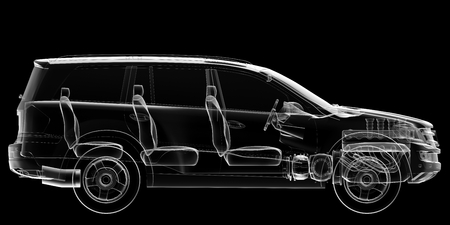 car isolated: isolated transparent car image Stock Photo