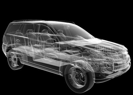 image geïsoleerde transparante auto Stockfoto
