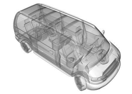 isolated transparent mini bus image Stock Photo