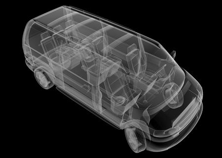 mini bus: isolated transparent mini bus image Stock Photo