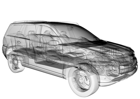 axle: isolated transparent car image Stock Photo