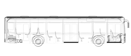 motor coach: transparent isolated bus image Stock Photo