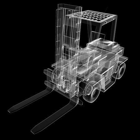 autotruck: isolated transparent forklift truck