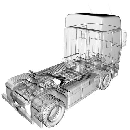 ciężarówka: izolowane przejrzyste ciężarówka Zdjęcie Seryjne