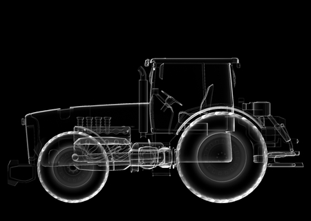 isoladed: transparent isoladed tractor image