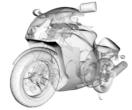 moto: transparent isolated sport moto bike