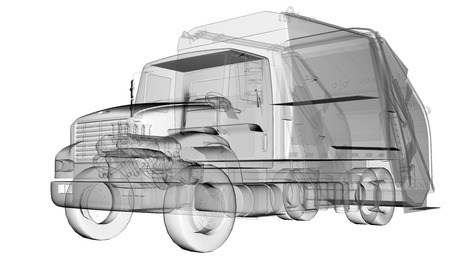 dumptruck: isolated transparent clean truck Stock Photo