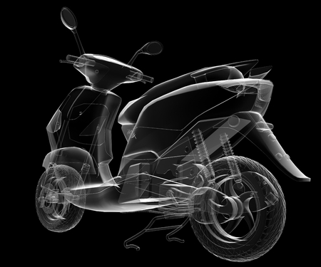quickness: isolated transparent scooter image