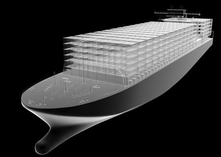 barco petrolero: isolated transparent tanker ship Foto de archivo