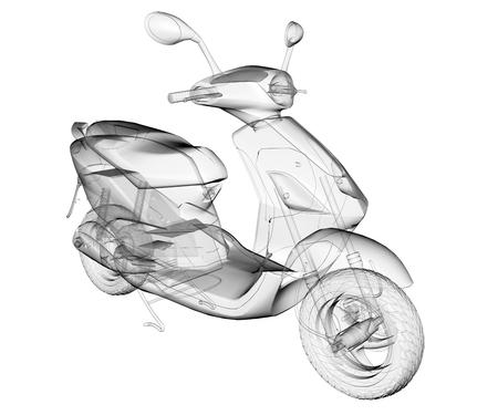 imagen Vespa transparente aislado Foto de archivo