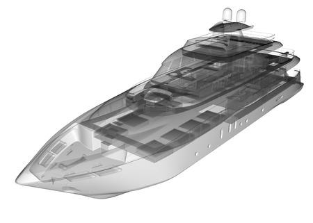 ship bow: isolated transparent luxury yacht