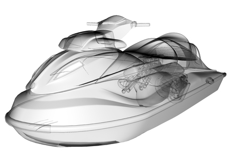 outboard: isolated transparent water scooter