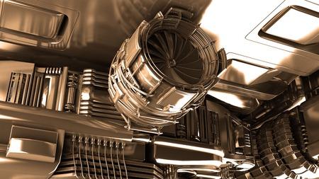 steam turbine: Steam turbine of power generator in an industrial thermal power plant