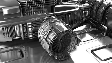 turbina de vapor: Turbina de vapor del generador de energía en una planta de energía térmica industrial