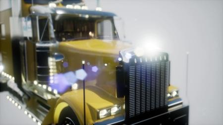 bright americal lorry track in studio