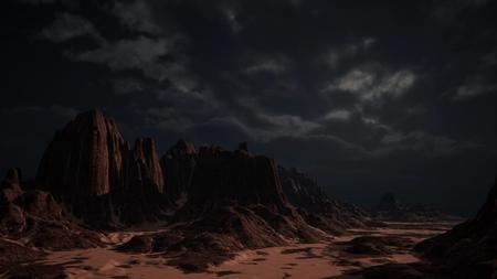 rocky desert landscap