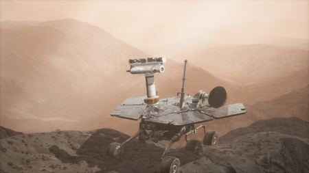 Oppotunity Mars exploring the surface of red planet