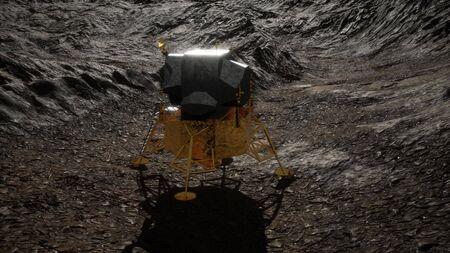 lunar landing mission on the Moon. Reklamní fotografie