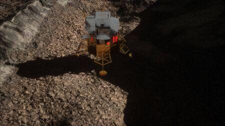 lunar landing mission on the Moon Foto de archivo