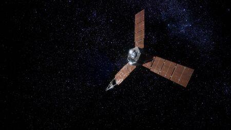 Juno sattelite orbiting Jupiter Banco de Imagens