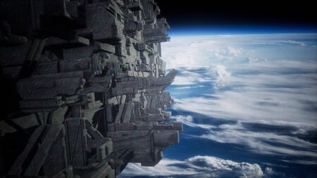fleet of massive spaceships known as motherships taking position over Earth for a coming invasion