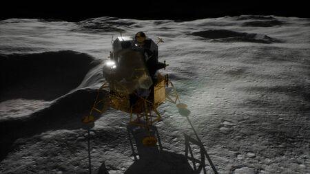 lunar landing mission on the Moon Reklamní fotografie