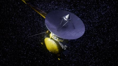 Satellite Cassini is approaching Saturn. Cassini Huygens is an unmanned spacecraft sent to the planet Saturn.