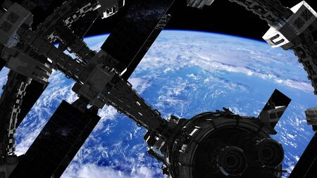 International Space Station in outer space over the planet Earth.