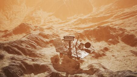 Opportunity Mars exploring the surface of red planet.