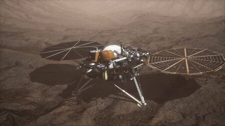 Insight Mars explorando la superficie del planeta rojo