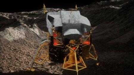lunar landing mission on the Moon Stock fotó