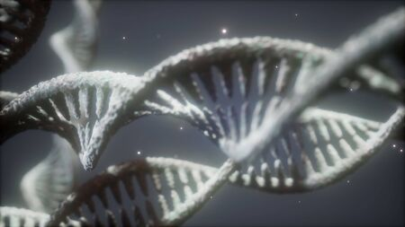 double helical structure of dna strand close-up animation