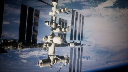 Earth and outer space station