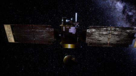 Agrimensor Global orbitando el planeta Marte.