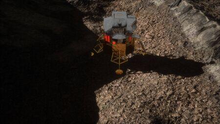 lunar landing mission on the Moon. Foto de archivo